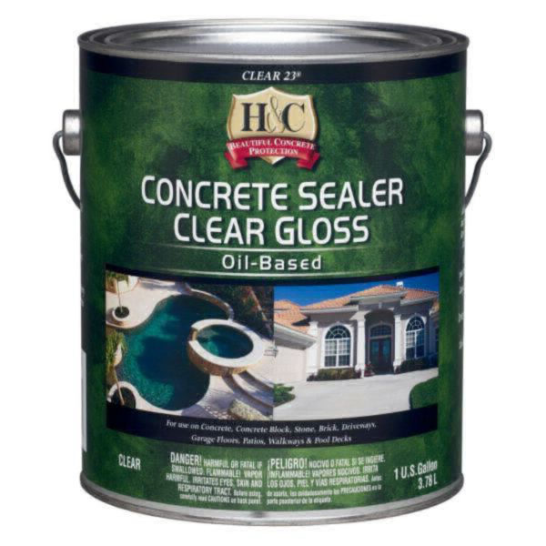 H&C Concrete Sealer Clear Gloss Oil-Based