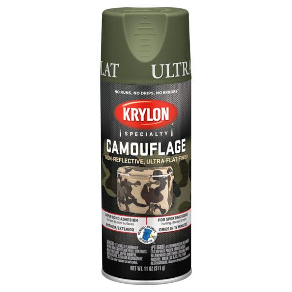 Аэрозольная краска камуфляж Krylon Camouflage Woodland Green 4296