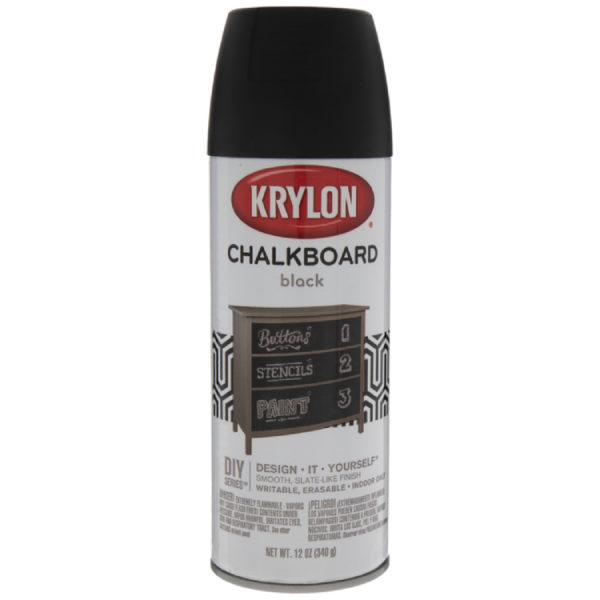 Меловая краска в баллончиках Krylon Chalkboard Black 807