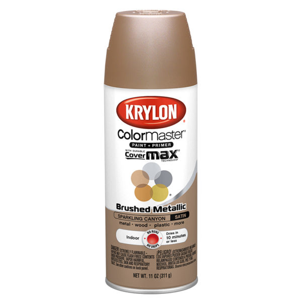 Krylon Colormaster Brushed Metallic Sparkling Canyon 51252