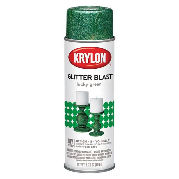 Блестящая аэрозольная краска Krylon Glitter Blast Lucky Green 3809