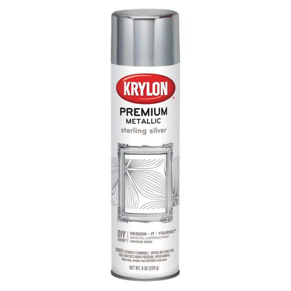Аэрозольная краска Krylon Premium Metallic Sterling Silver 1030