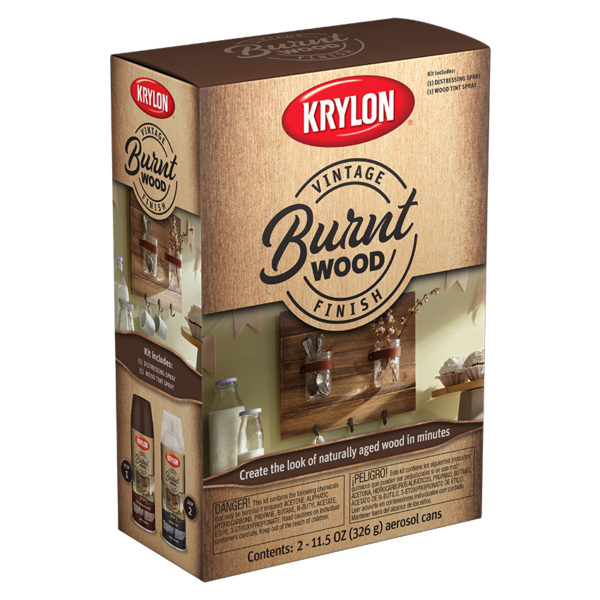 Krylon Vintage Finish Burnt Wood 8432