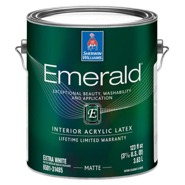 Sherwin-Williams Emerald Interior Acrylic Latex Paint Matte