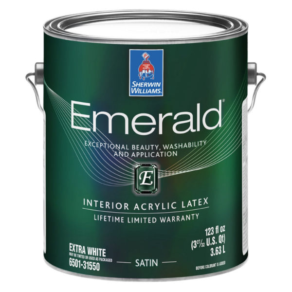 Sherwin-Williams Emerald Interior Acrylic Latex Paint Satin