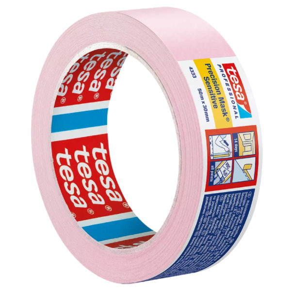 Розовая малярная лента tesa Professional 4333 PV1 Precision Mask Sensitive
